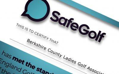 BCLGA Gain SafeGolf Accreditation